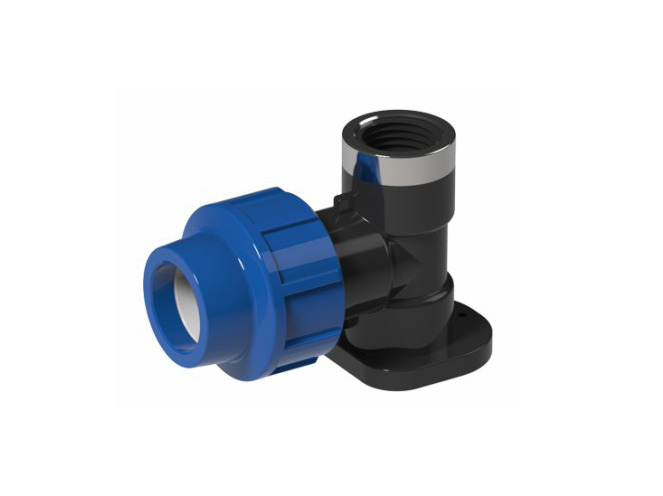 PP Wall Plate Elbow with BSP Female Threaded