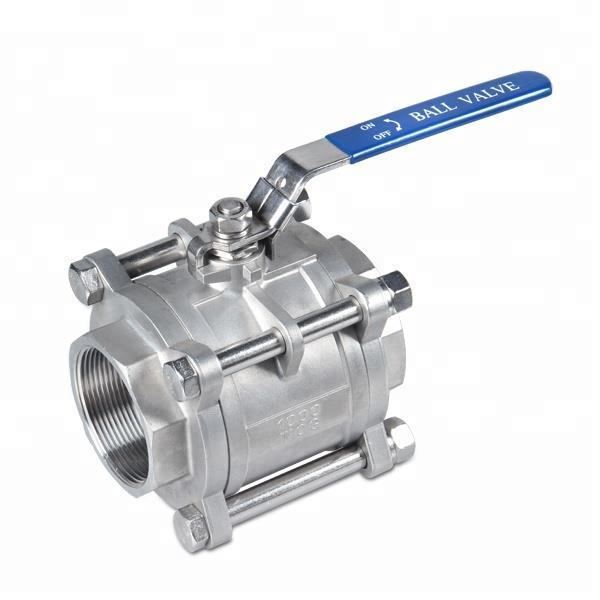 3pc Stainless Steel Ball Valves High Pressure Manual Heavy Weight 1 Inch Ball Valve
