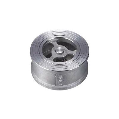 Female Thread Non Return 4 Inch Check Valve Wafer Type Stainless Steel 316