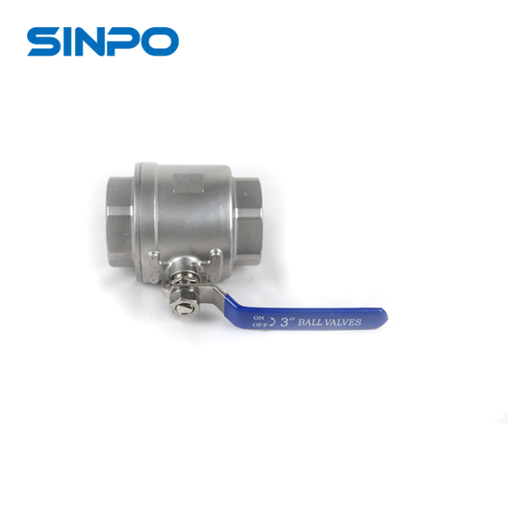 3''Lightest Weight SS CF8M 2pc Ball Valve With Normal Handle