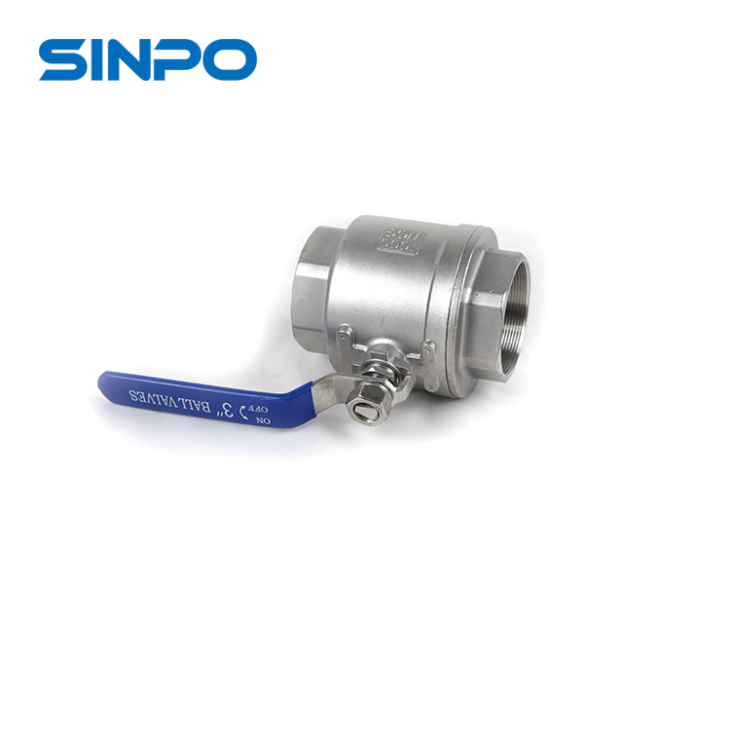 SS304 3'' Medium Weight Double-Side Flow Control 2pc Ball Valve