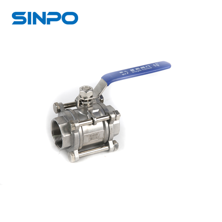 Stainless Steel 316 High Quality Heavy Weight 3pc Threaded Type Ball Valve For Water Gas Oil