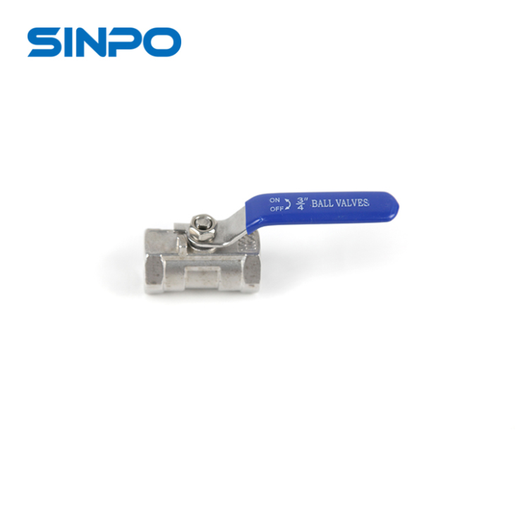 1pc Stainless Steel Floating Type Ball Valve With NPT Threaded