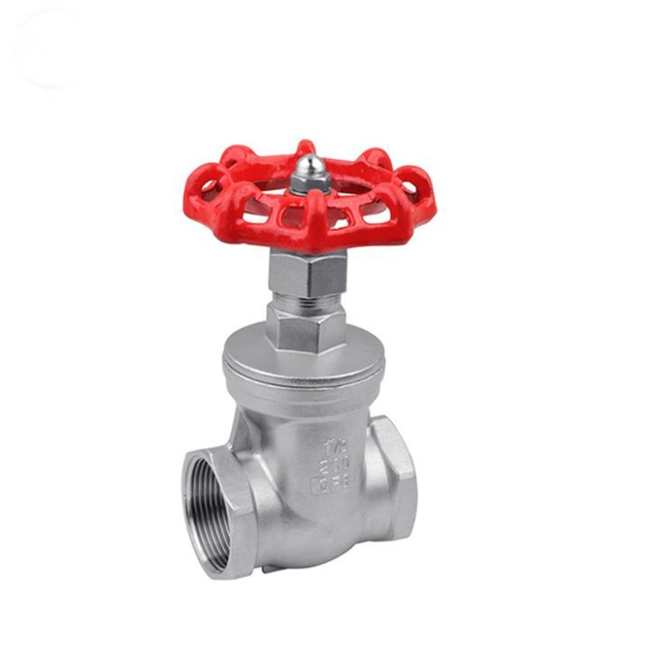 Manual Wheel Handle Gate Valve Threaded Type DN32 1-1/4 Inch Class 400 PN 64 SS 316 Water Pipeline