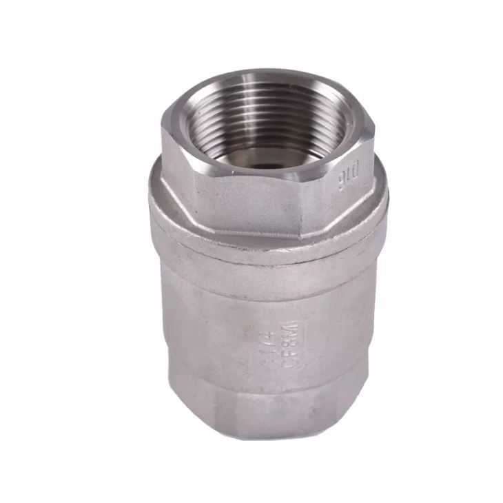SS 316 1-1/2 Inch Vertical Check Valve Unidirectioanal Hydraulics