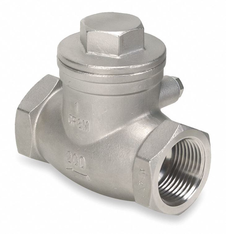 One Way Swing Check Valve Female Thread 1-1/2 Inch Stainless Steel 201