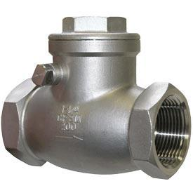 Female Thread 1 Inch Stainless Steel 304 One Way Check Valve Swing Type