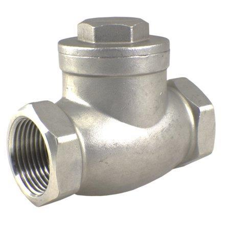 1000 WOG Stainless Steel 304 One Way Swing Check Valve 1-1/2 Inch