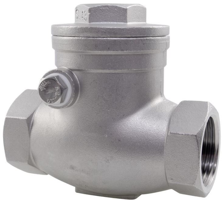 Stainless Steel 316 Swing Check Valve 6000 PSI 1000 WOG 1 Inch