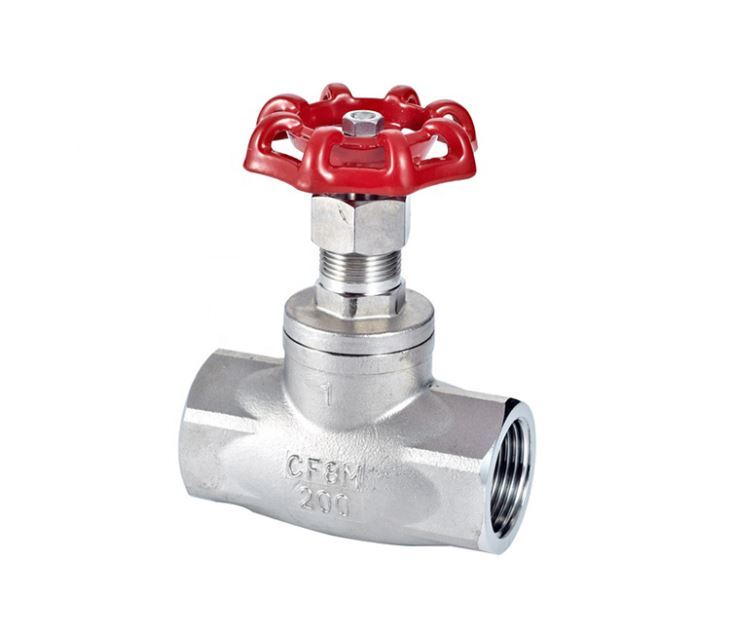 Stainless Steel In Direction Threaded Globe Valve Stop Valve Type B 1-1/2inch DN40